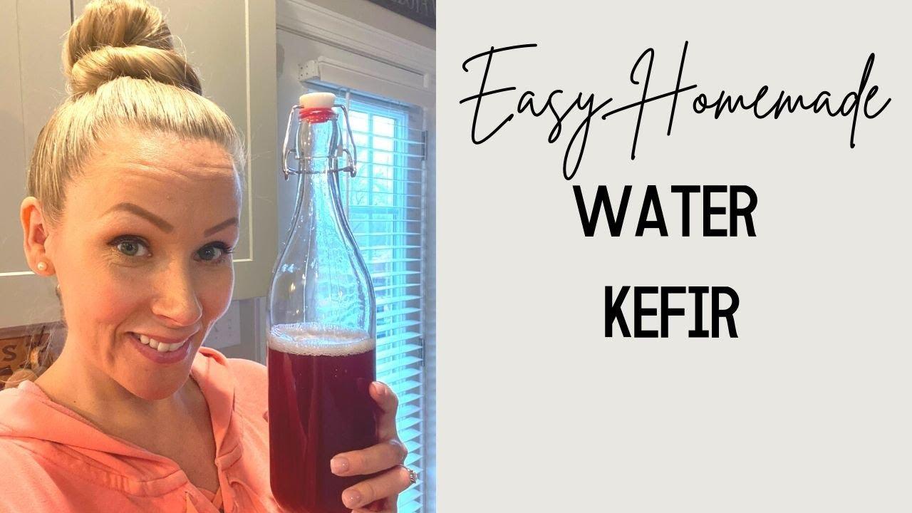Gut Healthy Water Kefir || Easy Probiotic Drinks || Water Kefir Grains