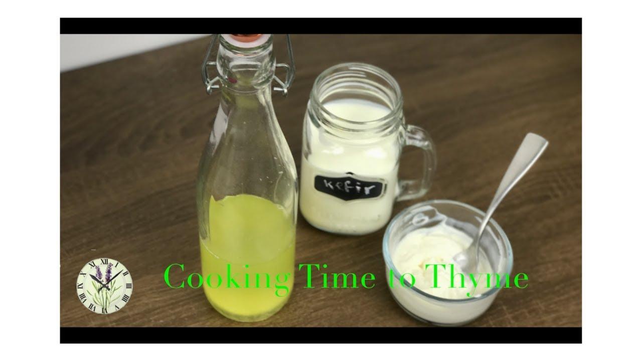 How to Make Kefir, Kefir Yogurt and Kefir Whey (Full of Probiotics)