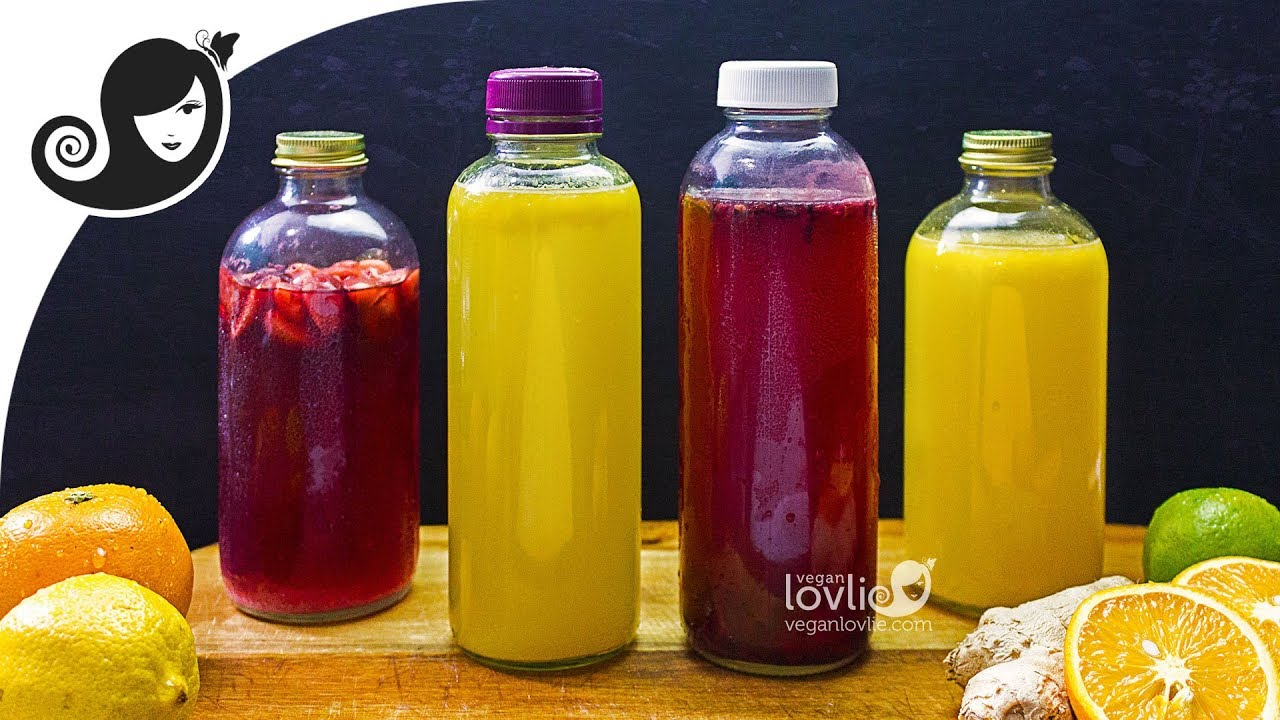 How to Make Water Kefir - Fermented Home-brewed Soda - 3 Flavours